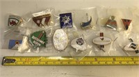 Collection of Ski Resort Enameled Pins