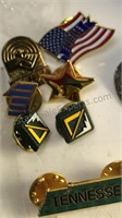 Collection of Metal and Plastic Pins and Other