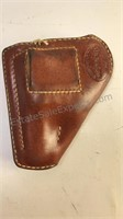 """Berns Martin Embossed  Leather Holster 4"""" Tall 4"""""""