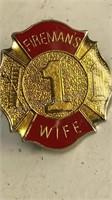 NRA and Fireman Metal Pins