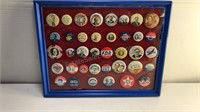 Collection of Metal Political Pins in Plastic