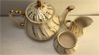 """Vintage Sadler of England 3pc  Tea Set Pot is 7"""""""