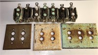 Antique Cutter Co Ceramic Cased Light Switches