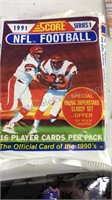 Collection of Sports Cards Loose in box with some