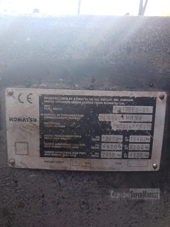 Komatsu PW130ES-6K Uzywany 2014
