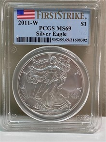 2011 W PCGS MS69 SILVER EAGLE FIRST STRIKE Other Items For