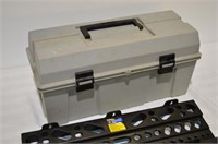"""22"""" Plastic Toolbox with Contents,"""
