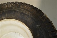 """Pair of 13"""" x 5"""" Lawn Mower Tires on Rims"""