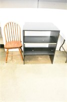 2-Piece Book Shelf (Imperfect) & Wood Chair