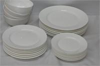 Gorham Bone China White Dinner Set