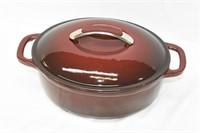 """Kitchen Aid Oval Cast Enamel Roaster 12"""""""