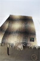 Plaid Mohair Throw Scotland Label