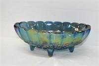 "Oval Carnival Glass Bowl 12"""