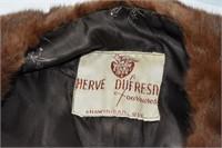 Vintage Fur Stole Quebec Label