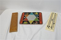Cribbage & Chinese Checkers Boards