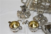 Grouping of Grape Pattern Silver-plate