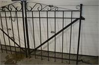 "2-Piece Iron Gate 8' x55"" Tall"