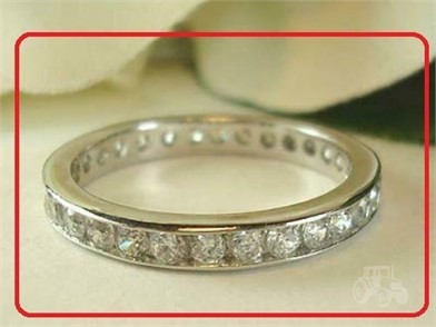 Sterling Solid Silver Aniversary Eternity Ring Sz8 Other Items For