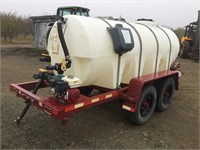 2017 PBM 1000 Gallon Dual Axle Poly Tank Trailer