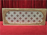 Ruby Stained Etched Transom Window c.1890 - 1920
