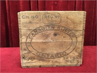 Vintage Canadian Butter 56 LBS Wood Box
