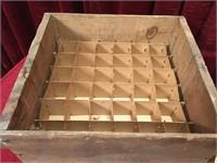 Vintage Egg Crate w/ Cardboard Dividers