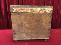"Vintage Wood Box w/ Lid - 18.25"" x 12.5"" x 18"""