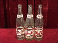 2 1952 & 1 1956 Pepsi-Cola Bottles