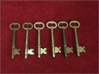 6 Vintage / Antique Skeleton Keys