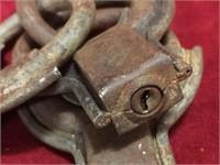 4 Antique Pad Locks - No Keys