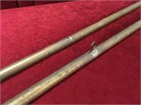 "2 Vintage Brass 43"" Flag Poles c.1960s"