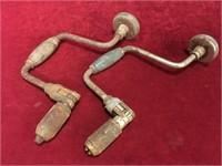 2 Vintage Brace Bit Drills