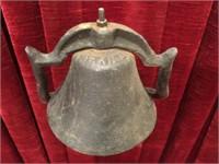 """Cast Iron Long Horn Bull Bell - 12.5""""tall"""