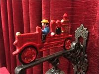 """Cast Iron Fire Truck Bell - 7""""wide"""