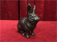 "Cast Iron 4"" Rabbit Coin Bank"