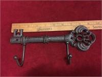 Cast Iron Key Hook & Keys