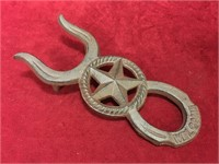 Cast Iron Western Theme Boot Hook