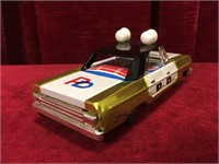 "Friction Power 6.5"" Tin P.D. Directory Car"