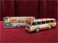 "Friction Power 7"" Tin Tourist Coach"