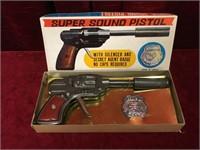 """Super Sound 8.5"""" Toy Pistol w/ Agent Badge"""