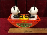 Wind-up Drum Beating Rocking See-Saw Toy