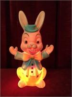 Vintage Pastel Plastic Bunny Lamp by Nan-San