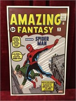 Amazing Fantasy Spider-Man Comic #15 Cover Poster