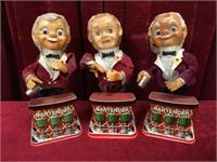 3 Vintage Mechanical Bartenders - As Is