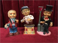 2 Vintage Mechanical Bartenders & 1 Hobbo - As Is