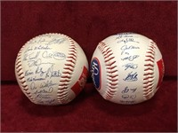 2 1990s Lithograph Detroit Tigers Signed Balls