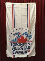 "1991 Toronto All-Star Banner - 34"" x 60"""