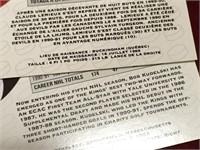 1991-92 Pro Set NHL Cards - 1 English & 1 French