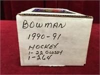 1990-91 Bowman 264 Hockey Card Set