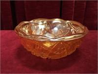"Carnival Glass Iridescent Bowl - 8""dia"